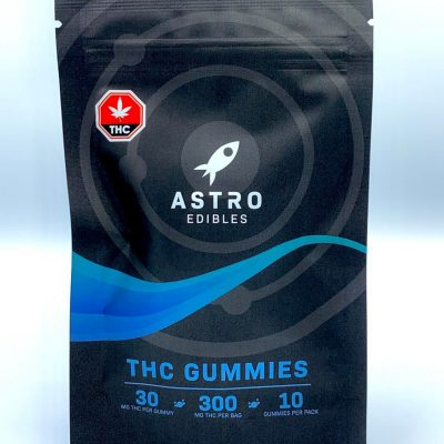 package of thc gummies 300mg astro edibles