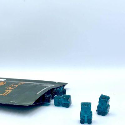 blue raspberry psilocybin microdose gummie bears