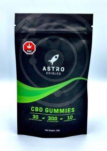 package of CBD gummies 300mg