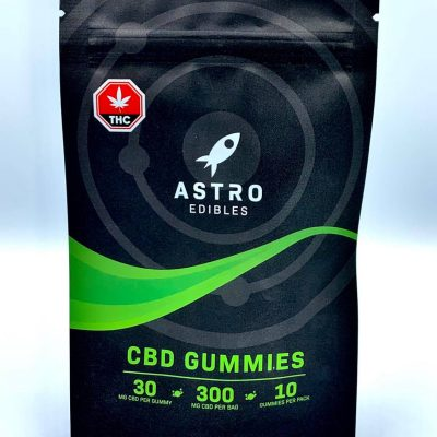 package of CBD gummies 300mg